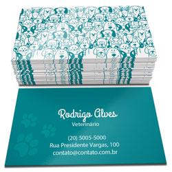 500 Cartões de visita, 4x4, Couchê 250g, Verniz Total