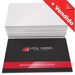 500 Cartões de visita, 4x0, Laminado, Verniz Localizado Frente e Verso