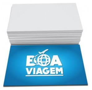 500 Cartões de visita, 4x0, 300g,  Fosco sem verniz