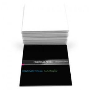 1000 Mini cartões de visita, 4x0, laminado, verniz localizado