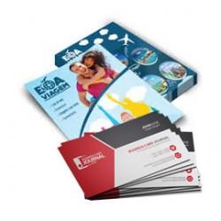1000 Cartões 4x0, verniz total + 2500 Panfletos 10x15cm, 4x0